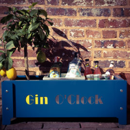 'Gin O'clock' Planter With Ice Buckets