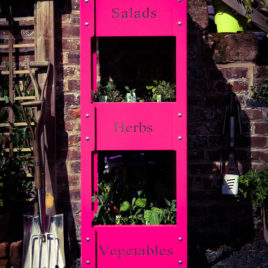 Amelie Three-tiered Planter / Hot Pink